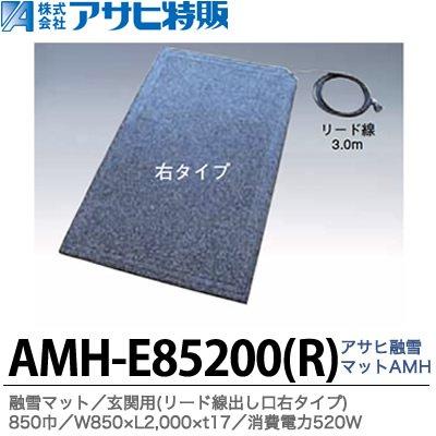 【アサヒ特販】 アサヒ融雪マット エコ 玄関用(リード線出し口右タイプ) 850巾 W850×L2,000×t17 AC100V(消費電力520W) AMH-E85200R  色:グレーミックス B01M0E1QPE