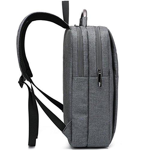 Bandolera bolso mujer ordenador multifunción Moda Casual hombre , classic black , 15 inch space dust