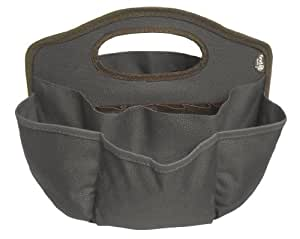 Find It Supply Caddy, 8.75 x 12 Inches, Canvas, 6 Pockets, 6 Compartments, 10 Storage Loops, Black (FT07201)