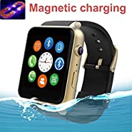 SuperWatch GT-88 Smart Watch Bluetooth NFC Connectivity Sports Watch with Heart Rate Monitor,Touch Screen and Magnetic Charging for Android Samsung HTC/Apple Ios