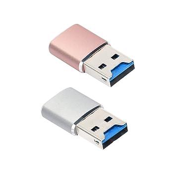 perfk - Lector de Tarjetas Micro SD 2 en 1 USB 3.0 TF ...