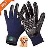 #5: CareYourPet Best Pet Grooming Glove - Cat, Horse, Dog Hair Remover with Adjustable Wrist Design - Gentle Deshedding Glove Perfect for Shedding, Bathing, Massaging & Hair Removal