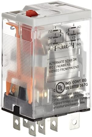 Premium Plug In Relay, Square Base, Narrow, Mechanical Flag, Push To
