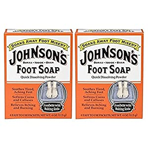 Johnson's Foot Soap Quick Dissolving Powder, 4, ct, 2 pk