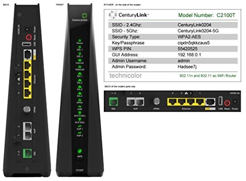 centurylink-prism-tv-technicolor-c2100t-80211ac-modem-router-gigabit-dsl-fiber-24-5ghz