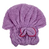 MINIBORD 6 Colors Hat Womens Cap Bath Accessories Drying Towel Head Wrap Hat Purple