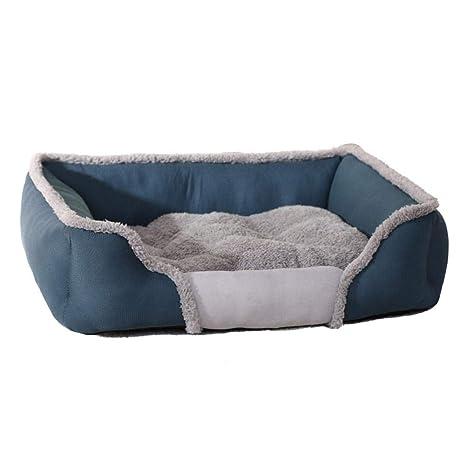 Biback Pet Nest Otoño Invierno Perro Gatos Mascota Nido Cojín Transpirable Caseta para Pequeño Mediano Mascota