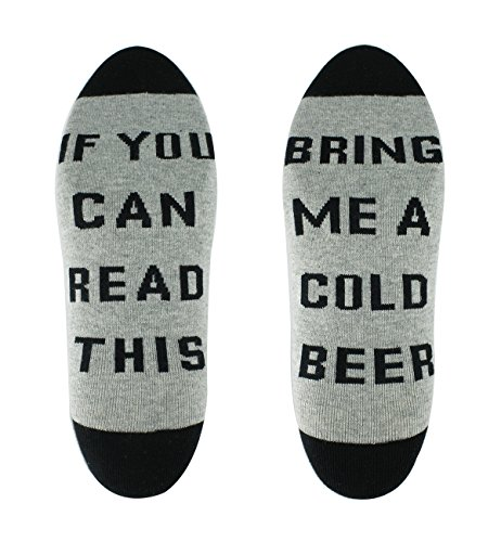 Zmart Men's Cheap Cool Fun Words Cotton Crew Beer Funny Socks