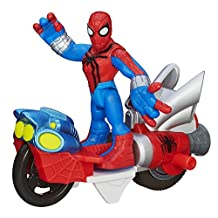 Playskool Heroes Marvel Spider-Man Adventures Spider-Man Figure with Web Racer Vehicle