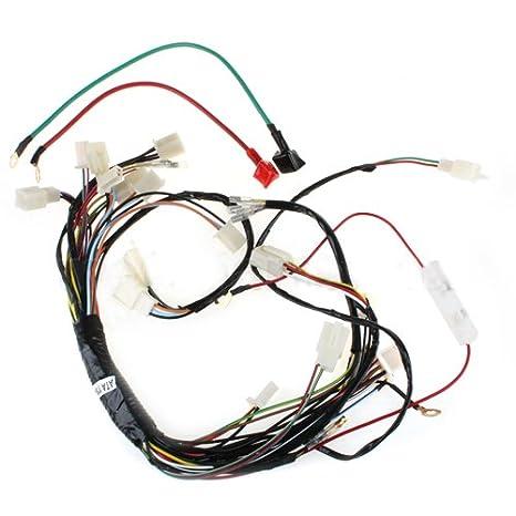 amazon com main wire harness for 110cc 125 cc atvs quad 4 wheeler ranger wiring harness main wire harness for 110cc 125 cc atvs quad 4 wheeler