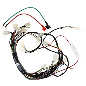 amazon com main wire harness for 110cc 125 cc atvs quad 4 wheeler main wire harness for 110cc 125 cc atvs quad 4 wheeler