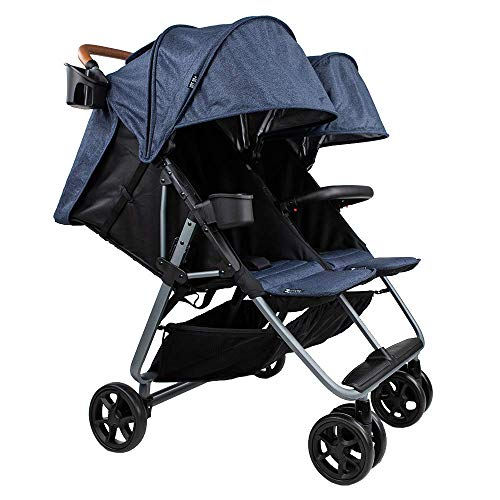 Review Of The Twin+ Luxe (Zoe XL2) - Best Double Stroller - Everyday Twin Stroller with Umbrella - U...