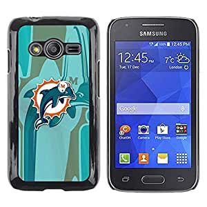 iKiki Tech / Estuche rígido - Miami Dolphin Equipo - Samsung Galaxy Ace 4