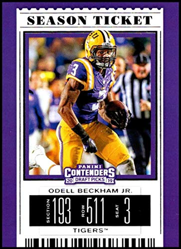 2019 Panini Contenders Draft Season Ticket #78 Odell Beckham Jr. LSU Tigers NCAA Football Trading Card (Ncaa Football Professional)