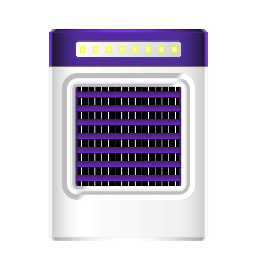Getadate New Charging S9 Mini Portable Air Conditioning Fan Home Refrigerator Cooler US, Small Appliances(Purple)