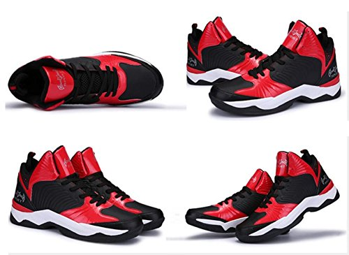 Jiye Prestaties Sportschoenen Heren Basketbal Mode Sneakers Zwart Rood