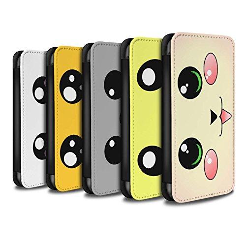 Stuff4 Coque/Etui/Housse Cuir PU Case/Cover pour Apple iPhone 4/4S / Pack 5pcs Design / Kawaii Mignon Collection