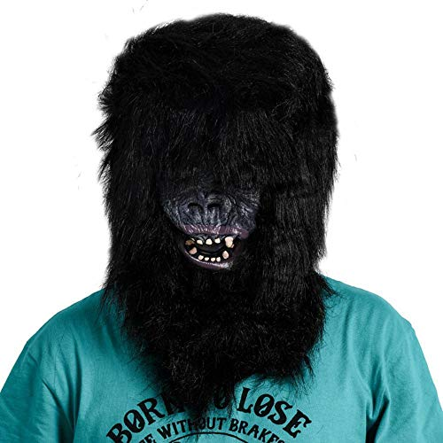 Rwdacfs Halloween mask,Horror Simulation Chimpanzee mask Party Show Trick Scary Dress up Halloween Props]()