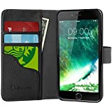 iPhone 7 Case, i-Blason Leather [Wallet Case] for Apple iPhone 7 2016 Release with [Kickstand] Folio Cover with Credit Card ID Holders (Black)