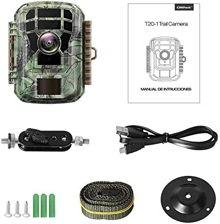 "【2020 Upgrade】 Campark Mini Trail Camera 16MP 1080P HD Game Camera Waterproof Wildlife Scouting Hunting Cam with 120° Wide Angle Lens and Night Vision 2.0"" LCD IR LEDs 51hMFB1K0NL"