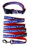 Texas Rangers Nylon Collar and Matching Leash for Pets (MLB Official by Pets First) Size Large