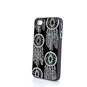 Generic Pretty Dream Catcher Carrying Case for iPhone 4/4S PC Cover Hard Shell Protector White Simple Personalized