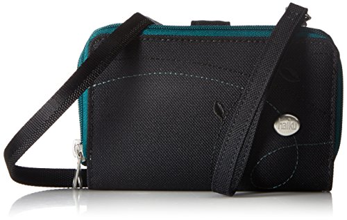 Haiku Cadence Phone Pouch RFID Blocking Wristlet Wallet, Black Juniper -