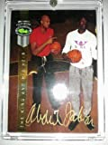"""Kareem Abdul-Jabbar (Lakers) 1992 Classic Four Sport Gold Autograph - Classic COA - With SHAQ """"King and his Heir"""" Inscription - Shipped in a Screwdown Protective Holder"""