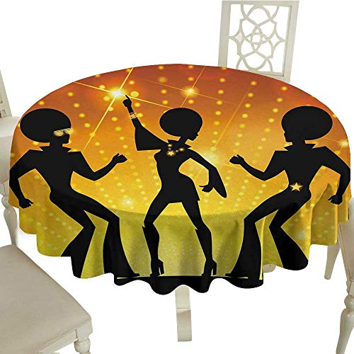 70s Party Easy Care Leakproof and Durable Tablecloth