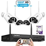 [2019 Newest] Wireless Security Camera System, Isotect Full HD 8CH 1080P WiFi NVR Kit with 4pcs 1080P Indoor Outdoor Wireless Video IP Cameras, Remote Playback, 65ft Night Vision, 1TB Hard Drive