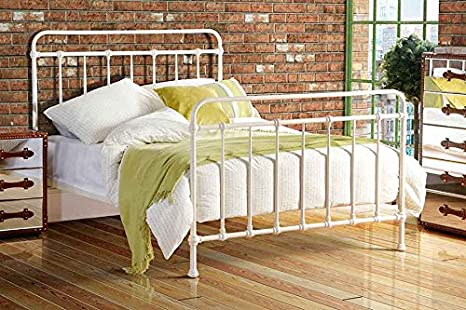 ISOBEL 4ft6 Double Dormitory Style Vintage Iron Metal Hospital Bed