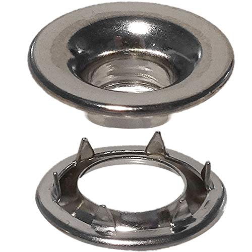 Stimpson Rolled Rim Grommet and Spur Washer Marine Grade Stainless Durable, Reliable, Heavy-Duty #0 Set (100 Pieces of ()