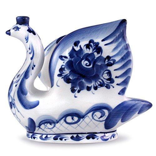 Gzhel Porcelain Napkin HolderSwan