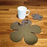 Placemat and Coaster Set - Daisy - Bronze Mirror - Set of 8