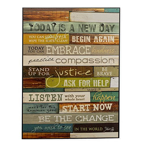 Today Is a new Day Inspirational Country Primitive Look 12 x 16 Wood Sign (Sign Inspirational)