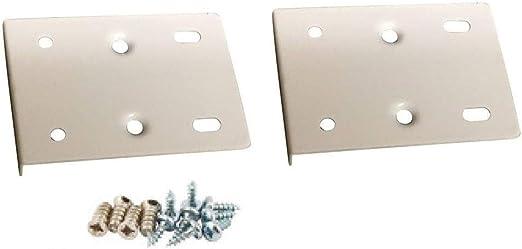 silberfarben Reparaturset f/ür K/üchenschrankt/ür inkl Platten und Befestigungsschrauben