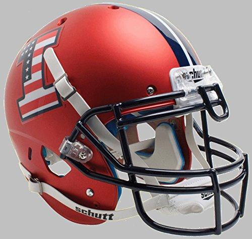(Schutt NCAA Illinois Illini On-Field Authentic XP Football Helmet, Flag Alt. 5)