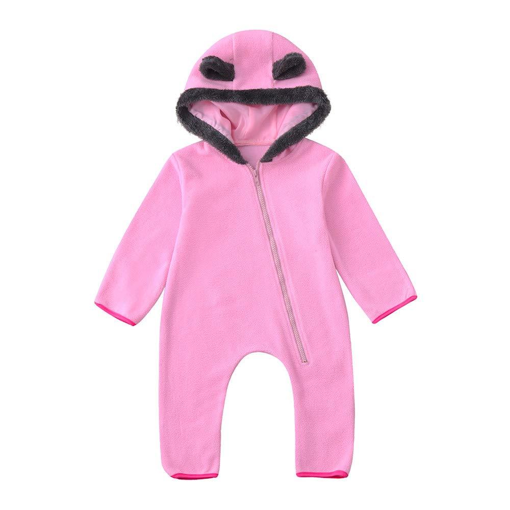 Amazon.com: Baby Girls Boys Winter Romper Bear Style Cute Ears ...