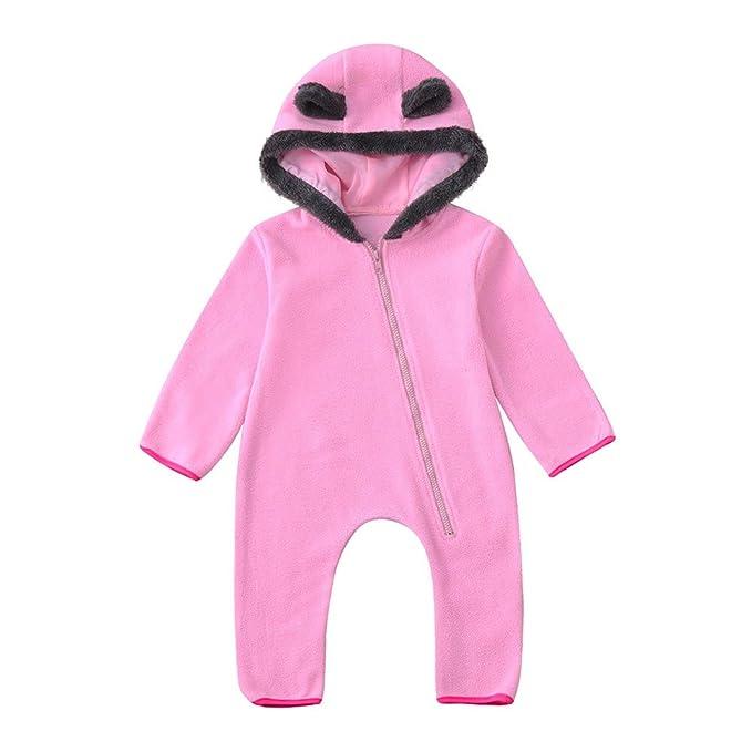 3a15a6b0a Xmiral Bebé-Niños Mameluco Recién Nacido Pijamas Monos Ropa Una Pieza para  Invierno Cálido Algodón
