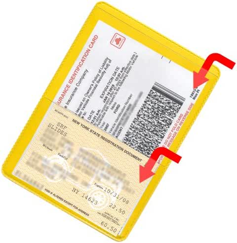 StoreSMART® - Yellow-Back Auto Insurance & ID Card Holders - 25 Pack - RFS20-Y25