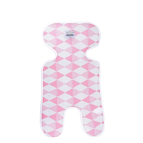 Single Stroller Liner - Saftybay 3D Mesh Breathable Seat Pad/Cushion/Liner for Stroller and Car Seat,Single Layer Baby Car Mat (Pink)