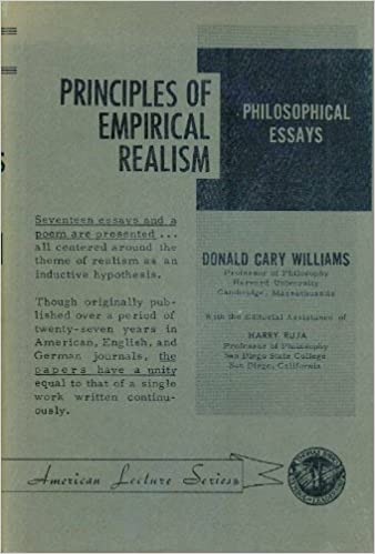 principles of empirical realism philosophical essays american  principles of empirical realism philosophical essays american lecture series donald cary williams com books