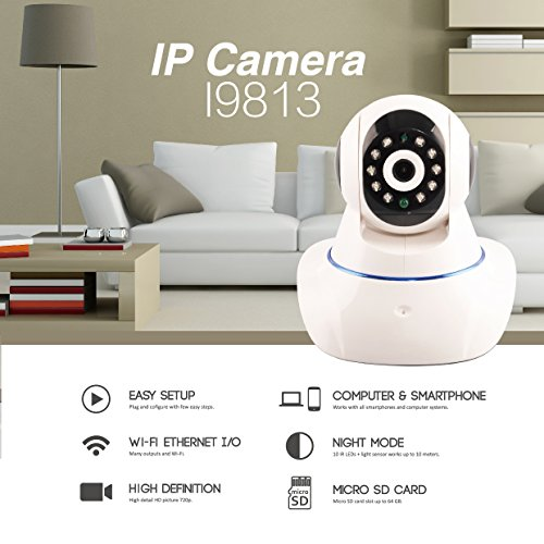 Wireless Wifi IP Security Camera 960P Indoor Home Surveillance System Baby Pet Monitor 2 Way Audio, Day/Night Vision Webcam (2) (Model A) by Kanstar (Image #4)