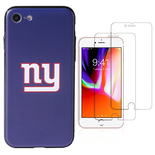 """Sportula NFL Phone Case for iPhone 7/iPhone 8 (4.7""""), Give 2 Premium Screen Protectors Extra Value Set (New York Giants)"""