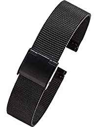 New Black Milanese Stainless Loop Steel Band Milanese Mesh Watch Strap 22mm
