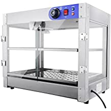 """PNR 110V Commercial Countertop Food Pizza Warmer 750W 24x20x20"""" Pastry Display Case"""