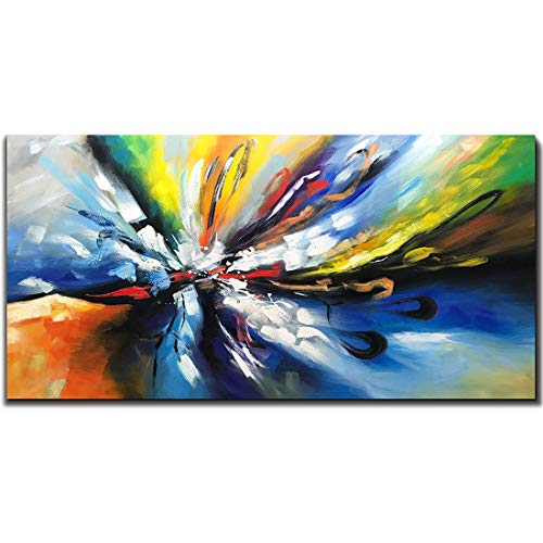 Tiancheng Art, 24X48 inch Hand Painted Oil Paintings Abstract Canvas Art Wall Art Framed Paintings for Bedroom Living Room Decorations Dining Room Art for Walls