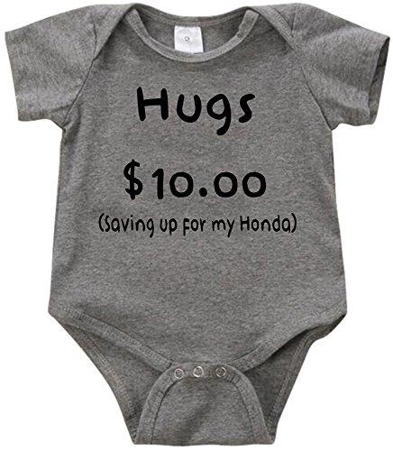 Anicelook Hugs $10 saving up for my Honda Unisex Funny Romper Onesie Creeper