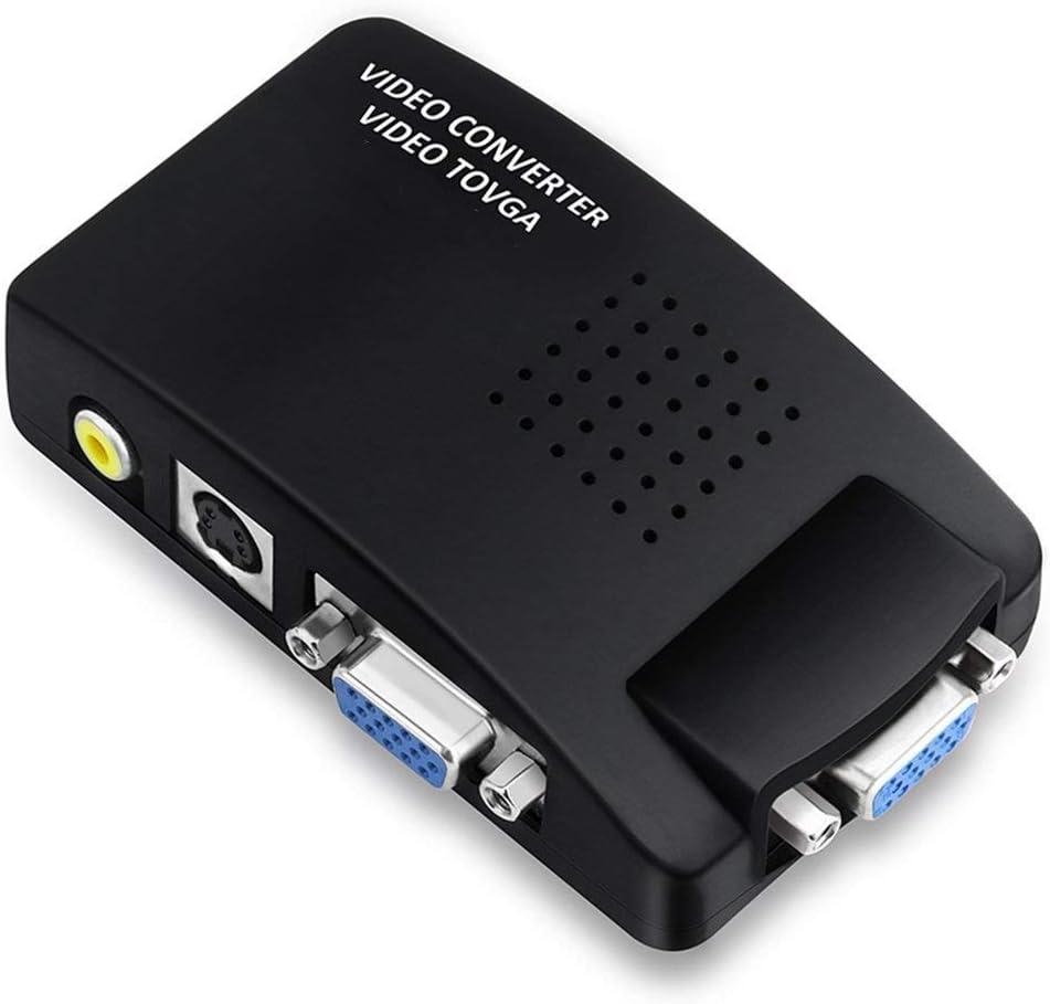 mondpalast@ CCTV DVD DVR TV RCA AV S-Video Composite Video entrada a VGA Monitor PC adaptador convertidor