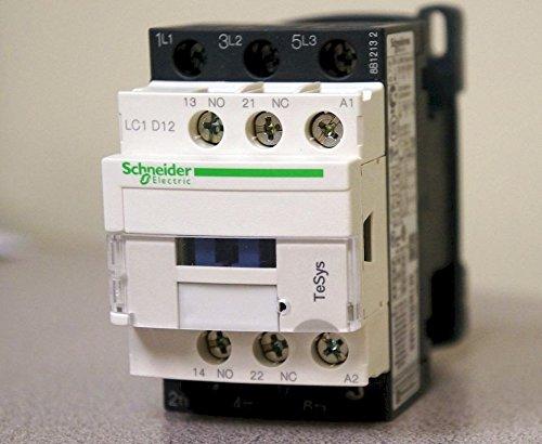 - SCHNEIDER ELECTRIC LC1D12G7 CONTACTOR 3PST-NO, 120VAC, 25A, DIN RAIL